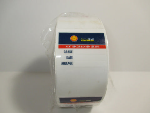 SHELL OIL CHANGE STICKERS, 500 ROLL