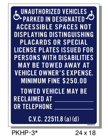 UNAUTHORIZED VEHICLES/NOT DISPLAYING LICENSE SIGN