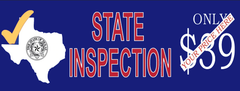 Texas - State Inspection Your Price Here | Vinyl Banner