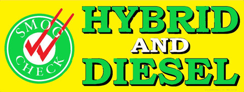 Hybrid and Diesel Smog Check | Vinyl Banner