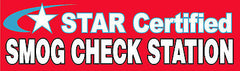 STAR CERTIFIED SMOG CHECK BANNER