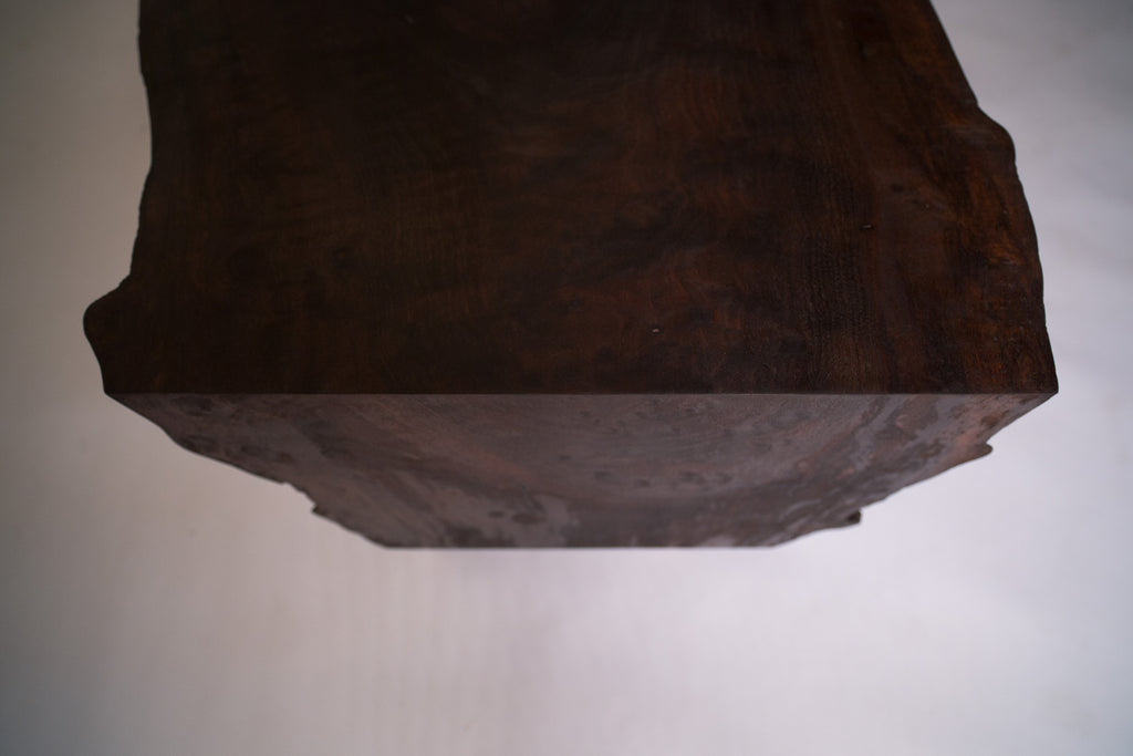 Live Edge Coffee Table, Claro Walnut