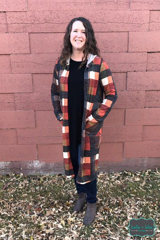 Plaid Cardigan Tops & Sweaters