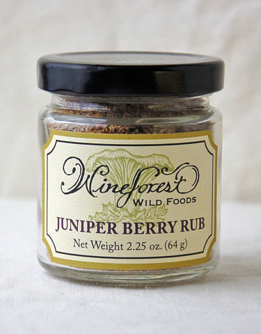 Wine Forest Wild Foods wild juniper berry rub, hand blended and sourced with care
