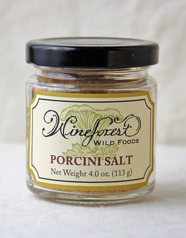 Wine Forest Wild Foods porcini salt, hand blended and sourced with care