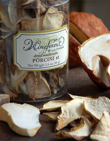 Wine Forest Wild Foods best quality gourmet Dried Wild Porcini Mushrooms