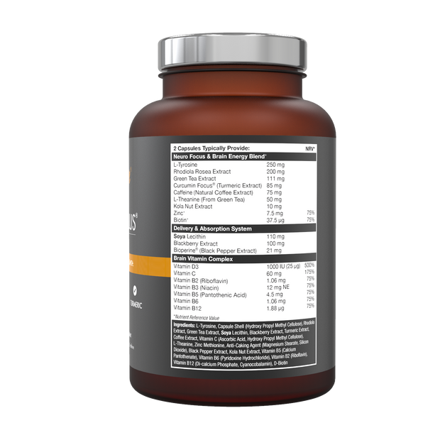 Neuro Focus Plus brain vitamins with 100% natural ingredients