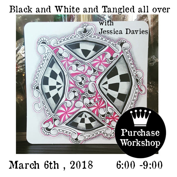Workshop | Black and White and Tangled all over with Jessica Davies