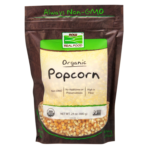 Now Foods Popcorn, Organic - 24 oz. - Health As It Ought to Be