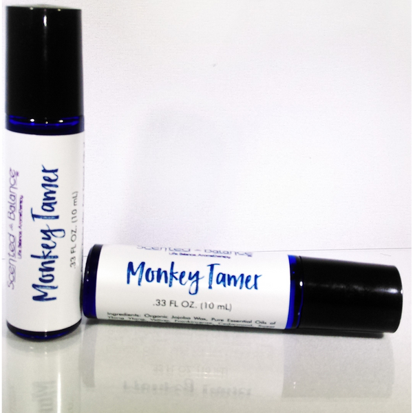 Scented Balance Monkey Tamer Aromatherapy Rollerball for ADHD - Health As It Ought to Be