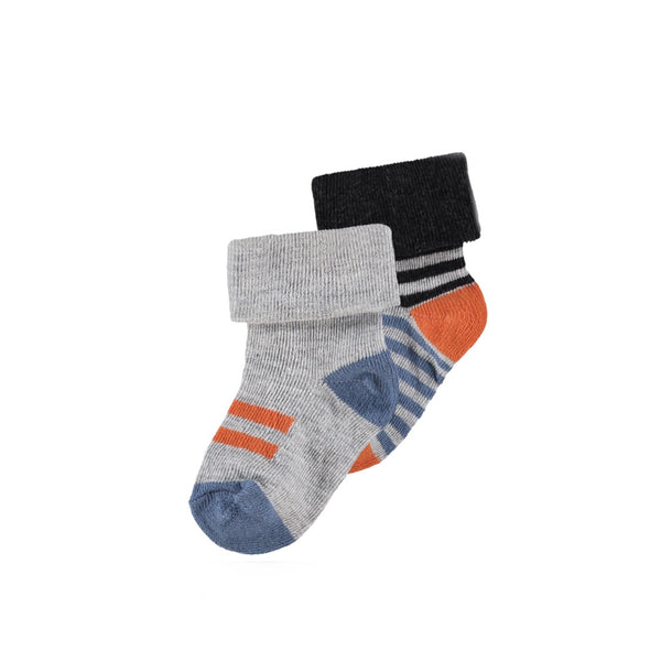 84548 - Noppies Smoke 2 Pack Trinity Baby Boy Socks