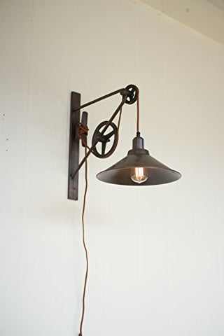 Double Pulley Wall Sconce - Les Spectacles French Industrial