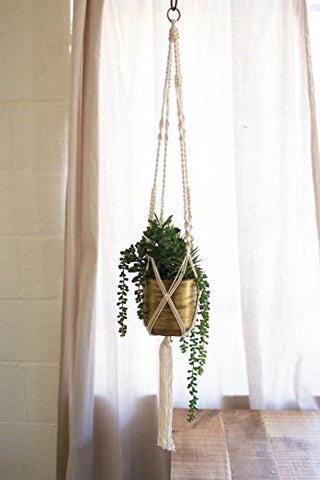 Cotton Macrame succulent Hanger - Les Spectacles French Industrial
