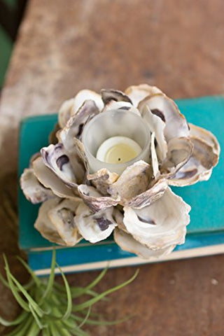 Oyster Shell Flower Votive Holder - Les Spectacles French Industrial