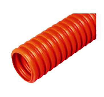 "HDPE, Single Wall, 1"" Orange, Corrugated With Pull Tape"