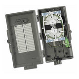Leviton Fiber Optic Network Interface Device NID houses 12 splices and/or 2 SC terminations