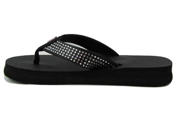 Amor Rhinestone Yoga Mat Flip Flops for Women - Leave An Impression