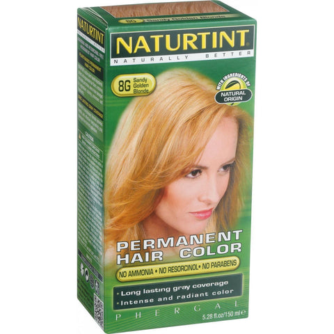 Naturtint Hair Color - Permanent - 8g - Sandy Golden Blonde - 5.28 Oz