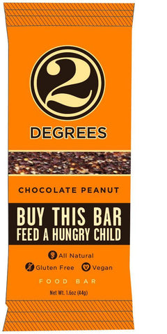 Two Degrees Nutrition Bar - Chocolate Peanut - 1.6 Oz Bars - Case Of 9 - evoxMarket