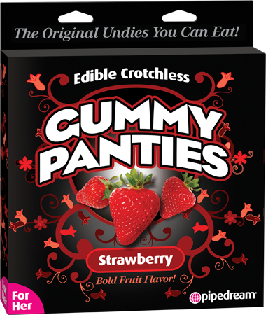 Edible Crotchless Gummy Panties (Strawberry)