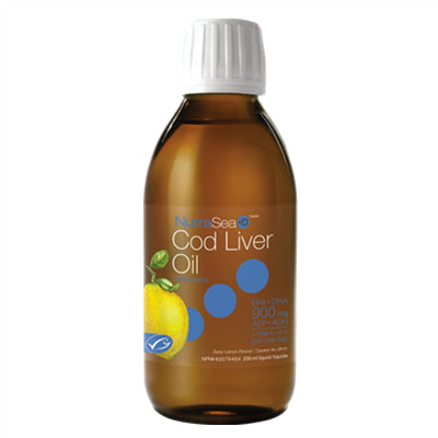 NutraSea Cod Liver Oil +D Lemon 200ml