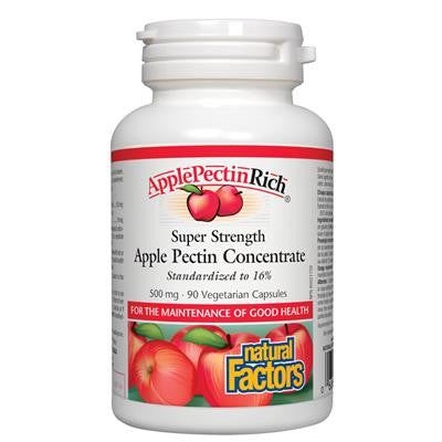 Natural Factors ApplePectinRich Super Strength Apple Pectin Concentrate 500mg 90 VCaps