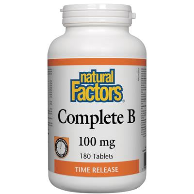 Natural Factors Complete B 100mg Time Release 180 Tablets