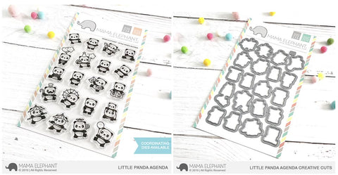 LITTLE PANDA AGENDA stamp and die