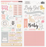 Stickers - CP - Little You - 6 x 12 - Gold Foil - Accents - Girl - 2 Sheets