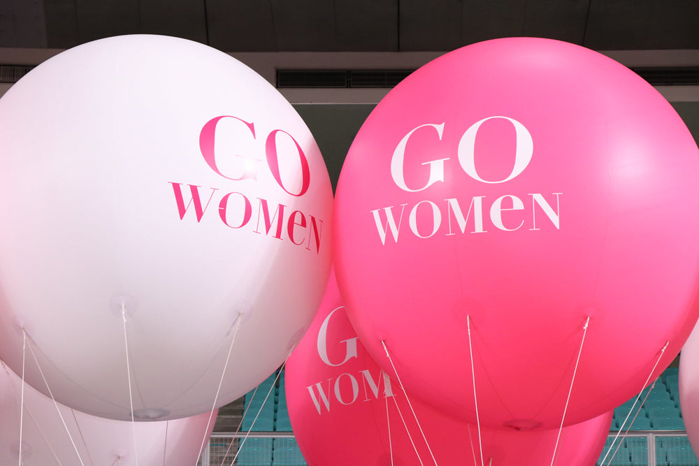 March Women's Month balloons