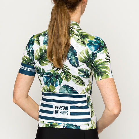 Tropical Leafs Domestique Short Sleeve Jersey Women