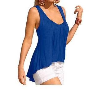Summer O-Neck Sleeveless Loose Blouse - J20Style - 3