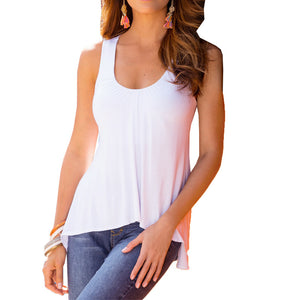 Summer O-Neck Sleeveless Loose Blouse - J20Style - 2