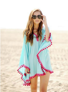 Summer Blush Ball Fringed Beach Dress - J20Style - 1