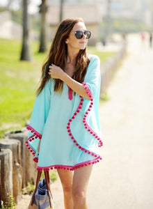 Summer Blush Ball Fringed Beach Dress - J20Style - 3