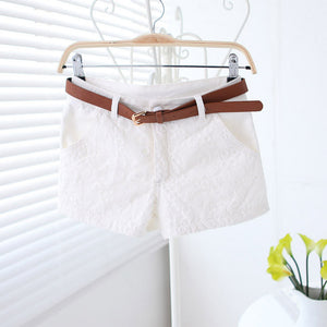 Flower Lace Embroidery Low Waist Short - J20Style - 3