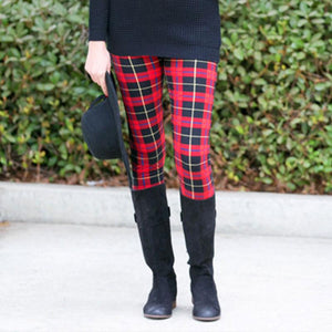 Plaid Skinny Long Legging - J20Style - 1
