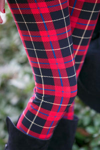 Plaid Skinny Long Legging - J20Style - 2