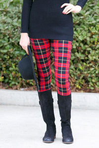 Plaid Skinny Long Legging - J20Style - 5