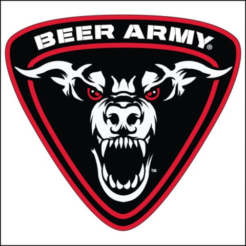 Beer Army Shield Logo Sticker