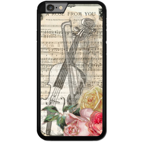 Fits Apple iPhone 6 & 6S - A Rose Music Case Phone Cover Y00628