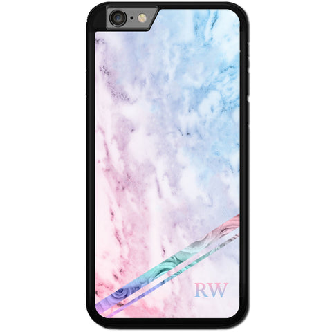 Fits Apple iPhone 8 PLUS - PERSONALISED Monogram Marble Case Phone Cover Y01541