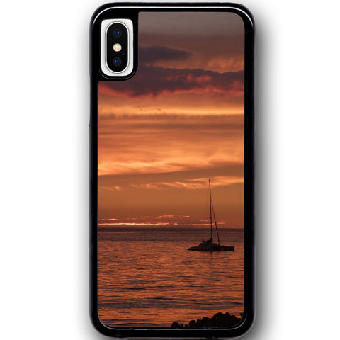Fits Apple iPhone X - Sail Sunset Case Phone Cover Y00989