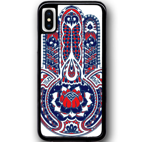 Fits Apple iPhone X - Red Hamsa Hand Case Phone Cover Y01032