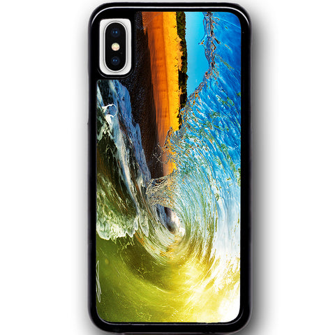 Fits Apple iPhone X - Surf Tube Heavan Case Phone Cover Y01116