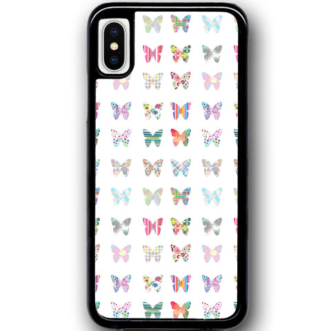 Fits Apple iPhone X - Butterfly Montage Case Phone Cover Y01120