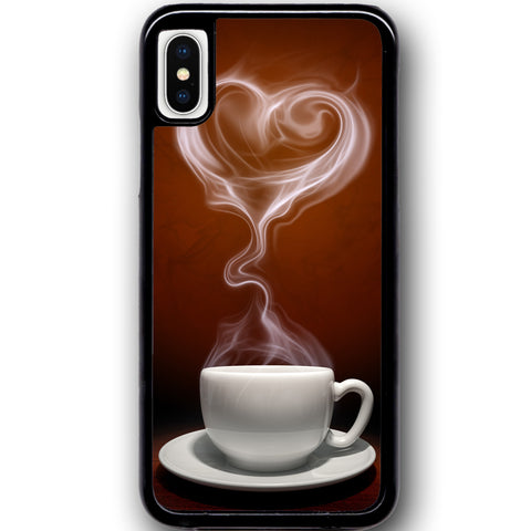 Fits Apple iPhone X - Love Coffee Case Phone Cover Y01153