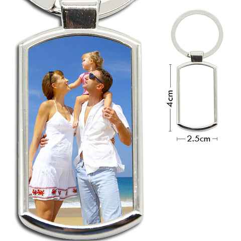 Personalised Photo KeyRing Stainless Steel Image Key Chain Ring - Perfect GIFT
