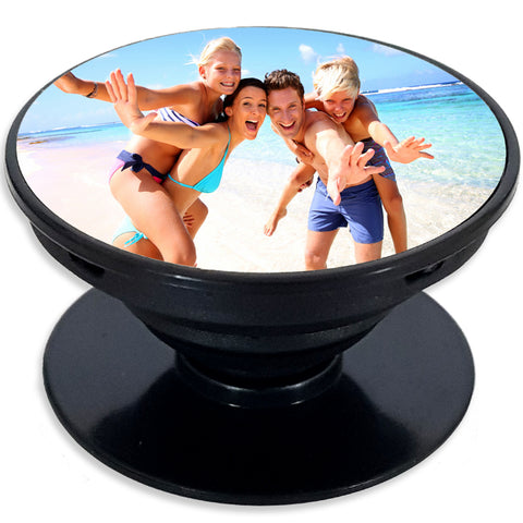 Phone Case Grip Holder Stand PERSONALISED Photo Picture Image Logo Custom