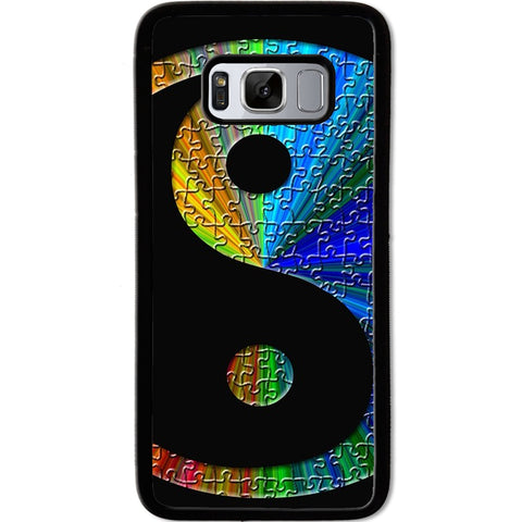 Fits Samsung Galaxy S8 - Yin Yang Puzzle Case Phone Cover Y01490